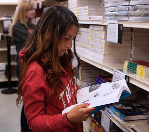 Students in bookstore