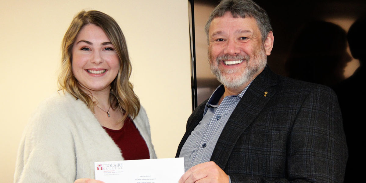 Donation presented at Giving event